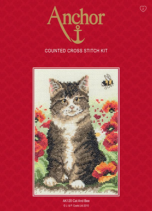 Anchor Cross Stitch | Cat and Bee