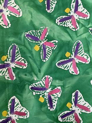 Batik Fabric Emerald Butterfly