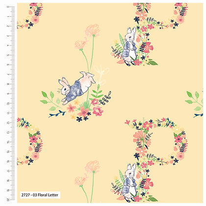 Peter Rabbit Collection - Floral Letter