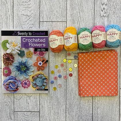 Crochet Flowers Gift Kit
