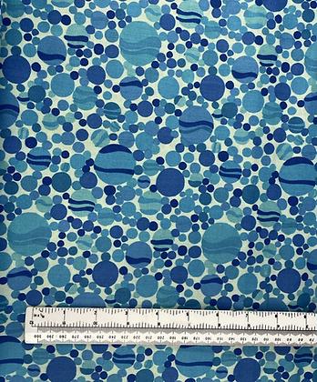 Blue Dot Cotton Fabric