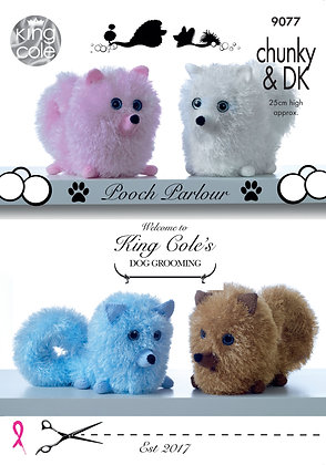 King Cole 9077 Tinsel Pomeranian Dogs