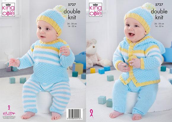 King Cole 5727 Knitting Pattern