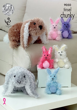 King Cole 9050 Tinsel Bunny