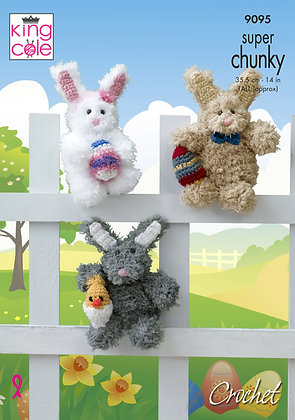 King Cole 9095 Tinsel Easter Bunny (Crochet)