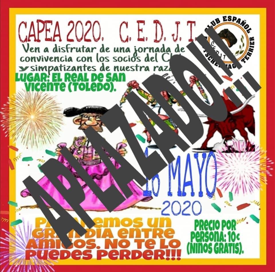 Aplazamiento Capea CEDJT 2020