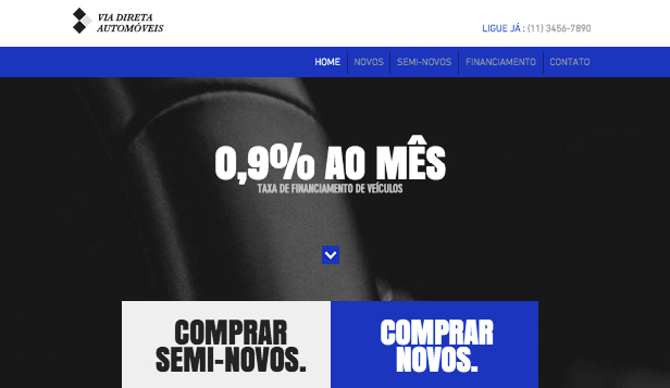 Automotivos website templates – Concessionária Moderna