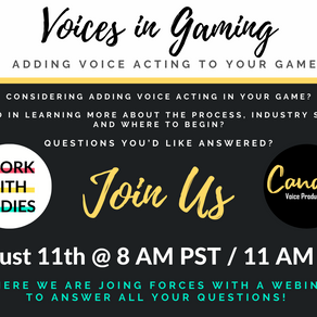 Voices in Gaming Webinar: Adding Voice Acting to Your Game