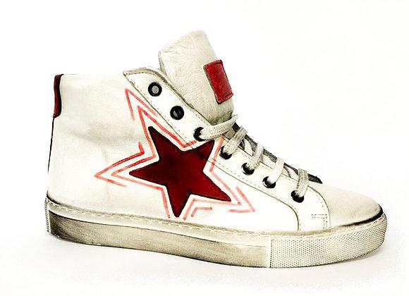 Sneakers alta dipinta