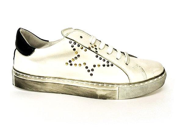 Sneakers borchie in pelle