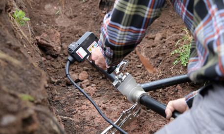 JAC-063 Fusing Black HDPE pipe.