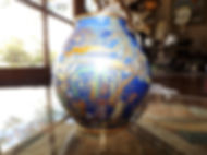 Carlton Ware Blue Mikado Vase c.1920 Price $95.00