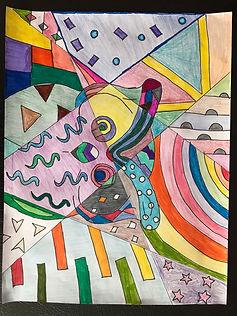 Aaron's Romero Britto ART.JPG