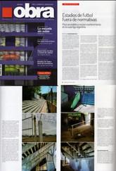 Revista OBRA - Estadios de futbol fuera de normativas - Enero 2018