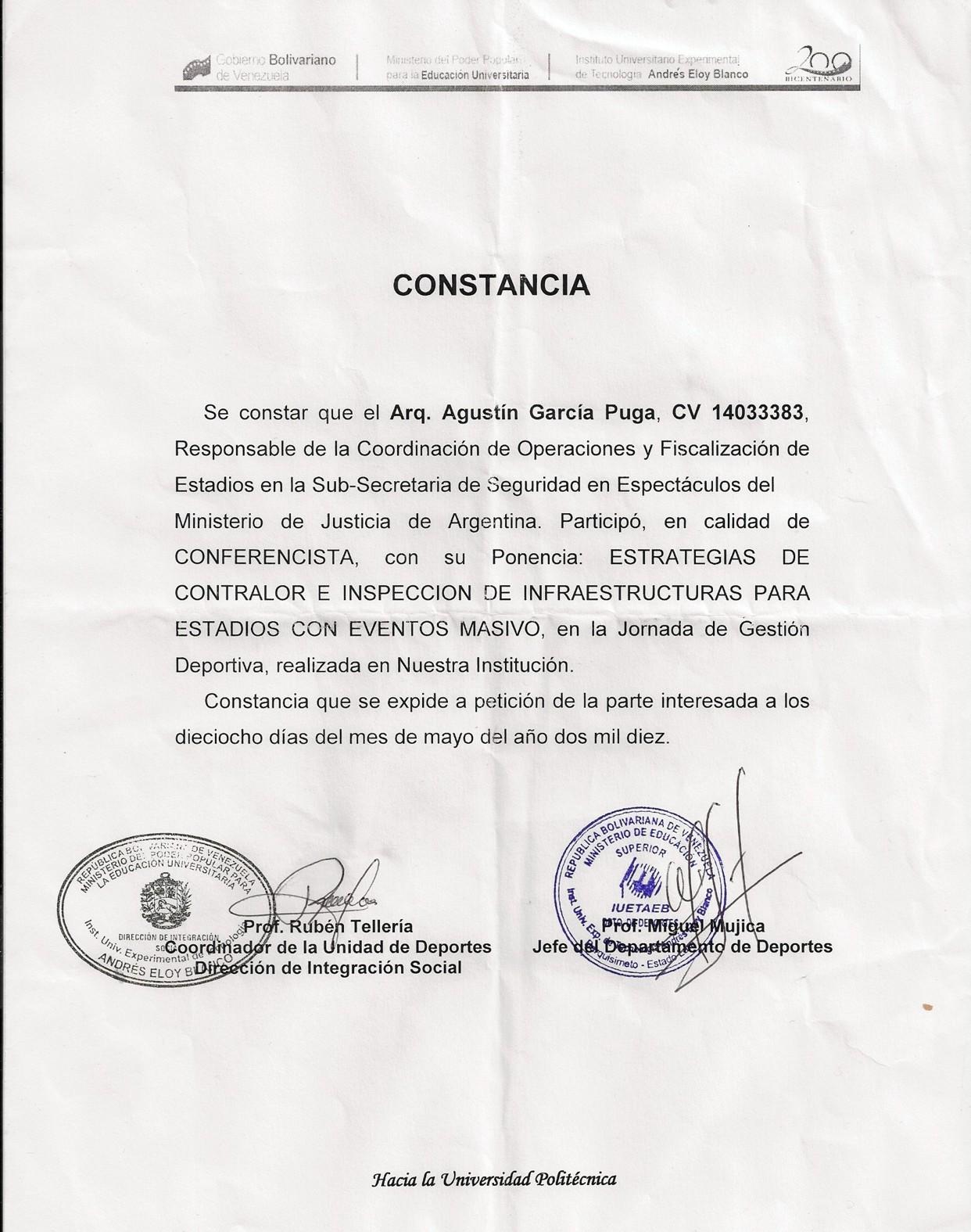 MAYO 2010 - BARQUISIMETO - VENEZUELA