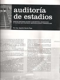Nota Auditoria de Estadios - Revista ARCHITECTOR - Octubre 2007