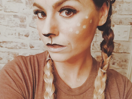 Simple DIY Deer costume-Doubles for Halloween or Christmas...