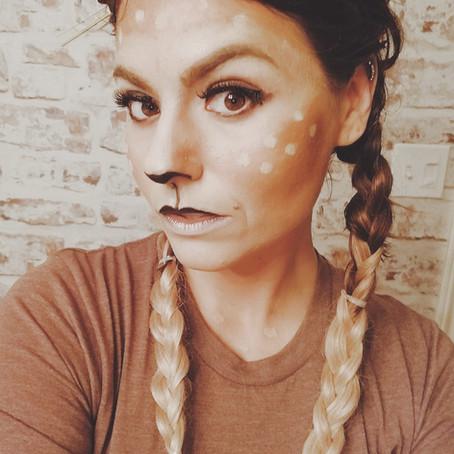 Simple DIY Deer costume-Doubles for Halloween or Christmas...