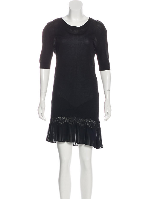 SANDRO | Scoop Neck  Dress