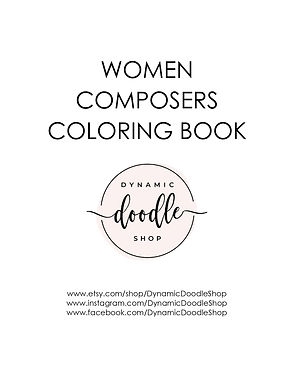 Women Composer Coloring Book cover page_