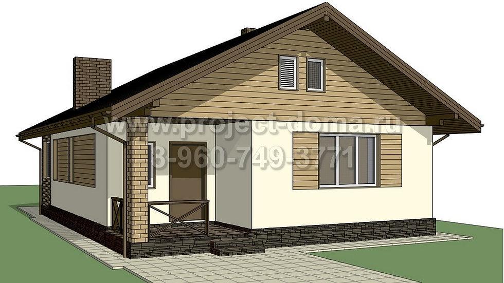 ГП-078 Жилой дом из газобетона 78м2