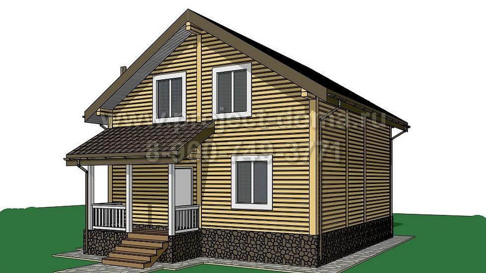 ГП-119 Деревянный жилой дом 119м2