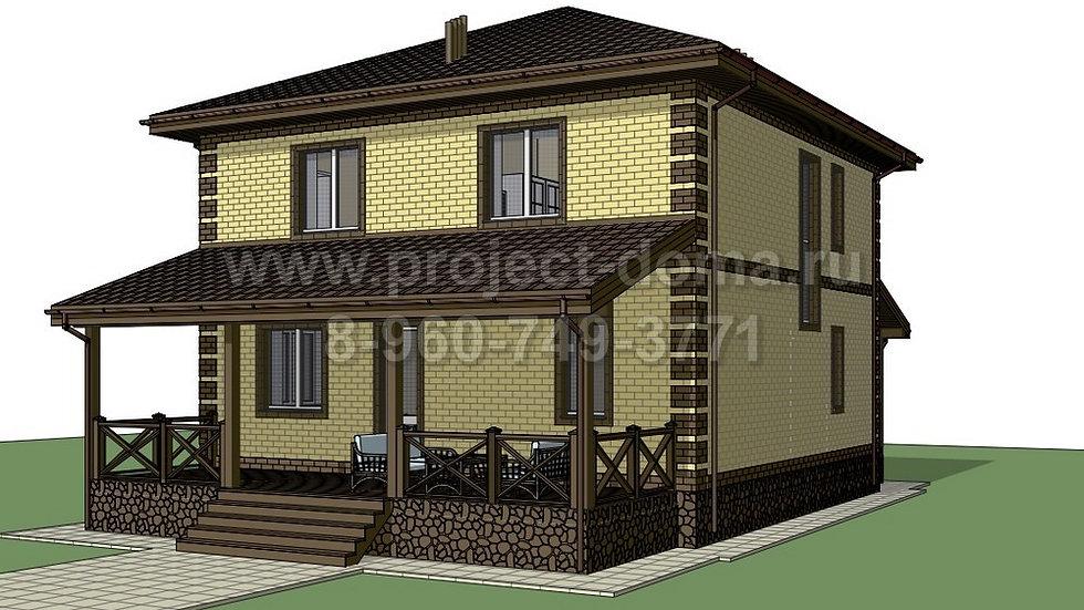 ГП-126 Двухэтажный жилой дом изгазобетона 126м2