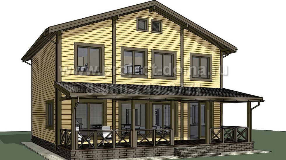 ГП-214 Каркасный жилой дом 214м2
