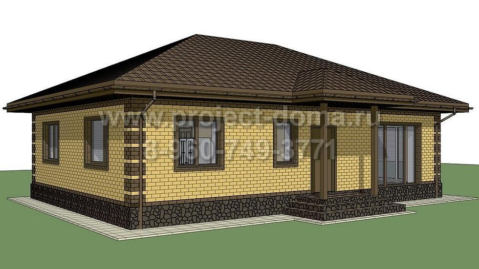 ГП-0873 Жилой дом из газобетона 87м2