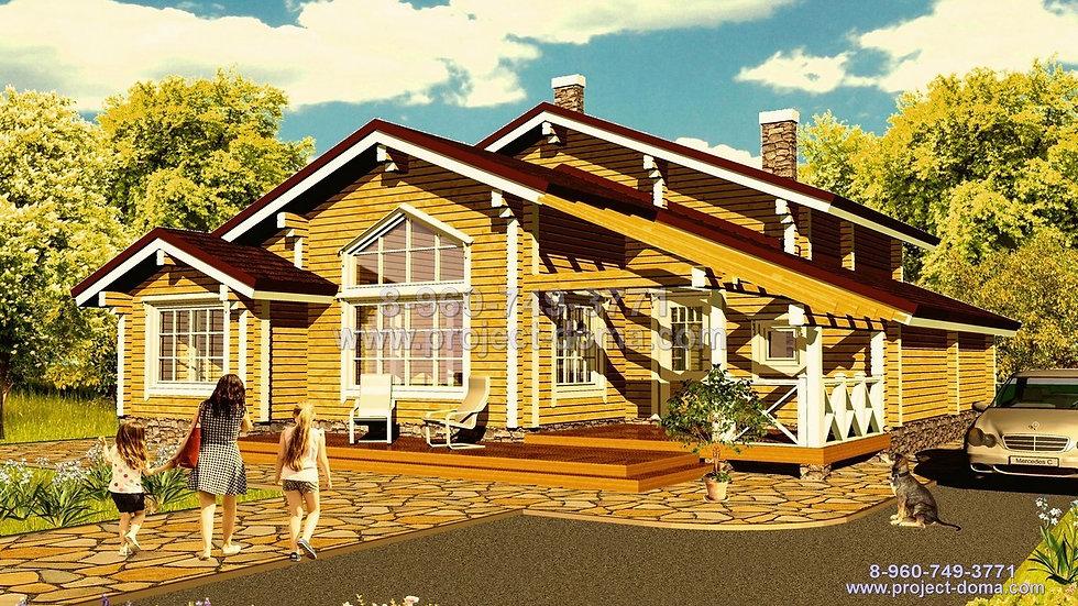 Д-166 Деревянный жилой дом