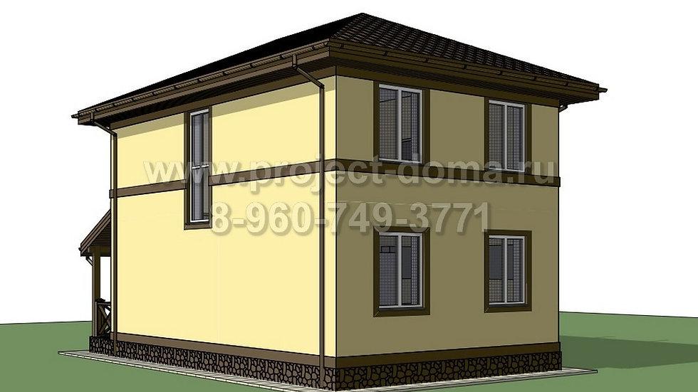 ГП-0875 Жилой дом из газобетона 87м2