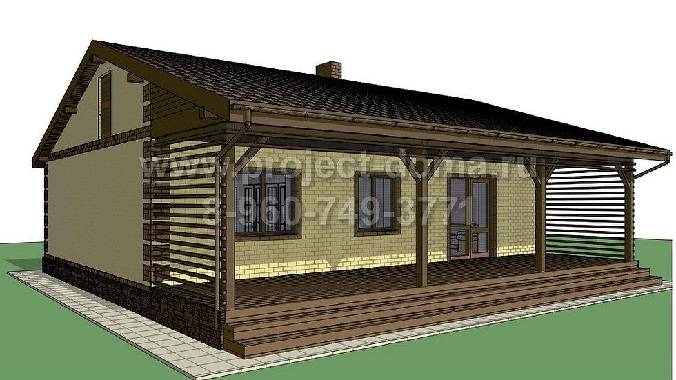 ГП-0874 Жилой дом из газобетона 87м2