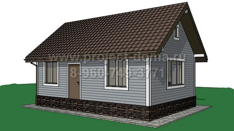 ГП-045 Каркасный жилой дом 45м2