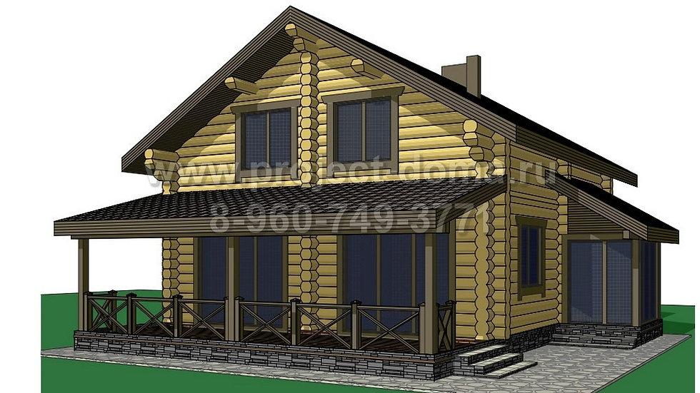 ГП-154 Деревянный жилой дом 154м2
