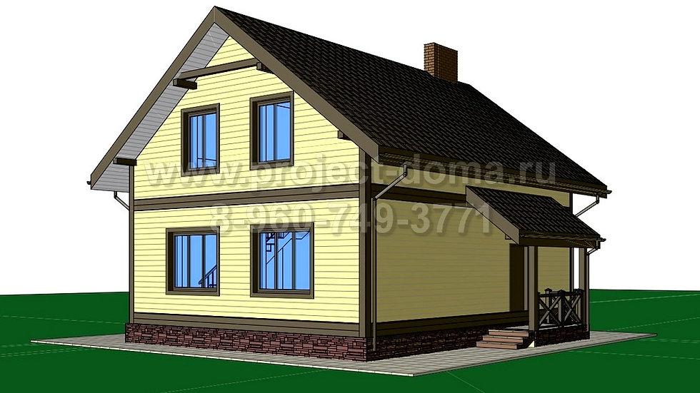 ГП-116 Жилой дом из газобетона 116м2