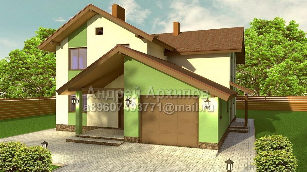Д-179 Жилой дом с гаражом