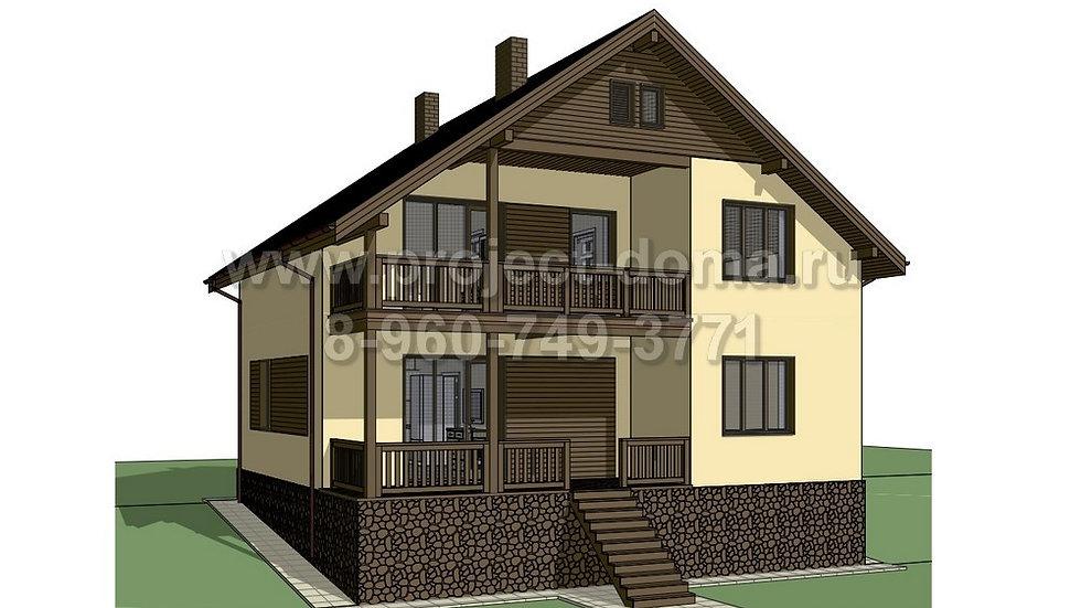 ГП-152 Жилой дом из газобетона 152м2
