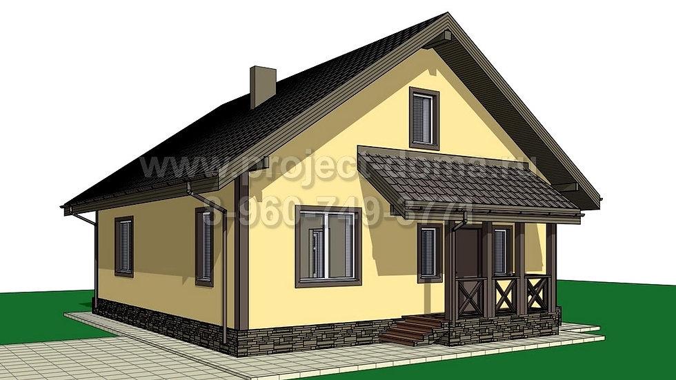 ГП-082 Жилой дом из газобетона 82м2