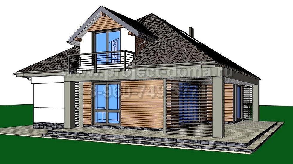 ГП-137 Жилой дом из газобетона137м2