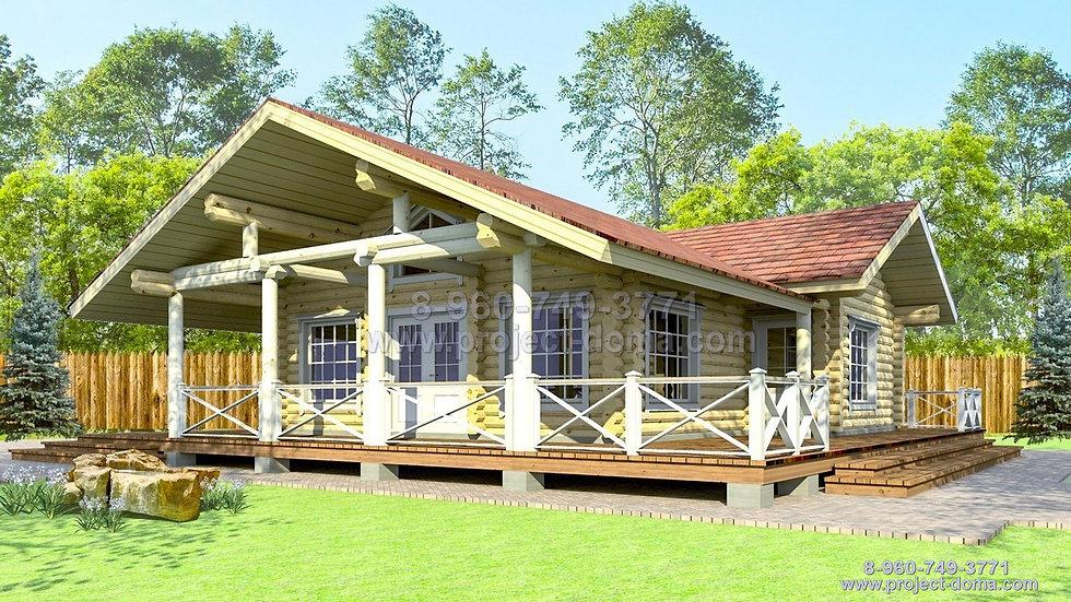 Д-105 Деревянный дом шале
