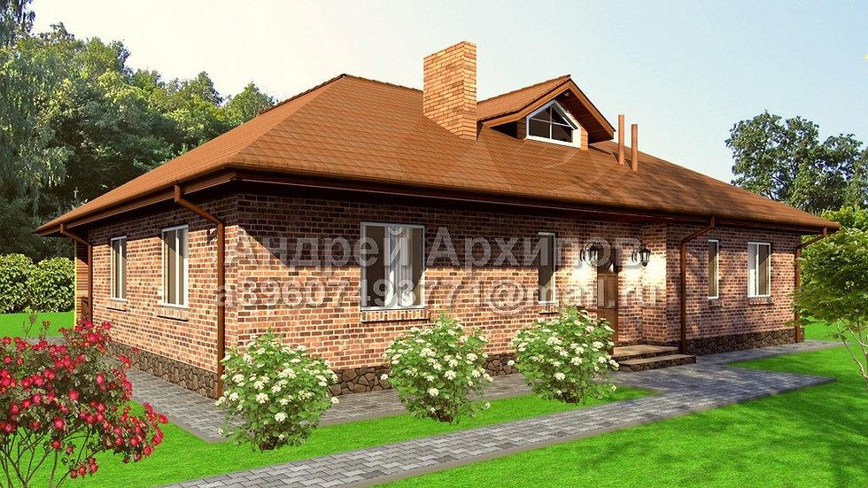 Д-168 Одноэтажный жилой дом