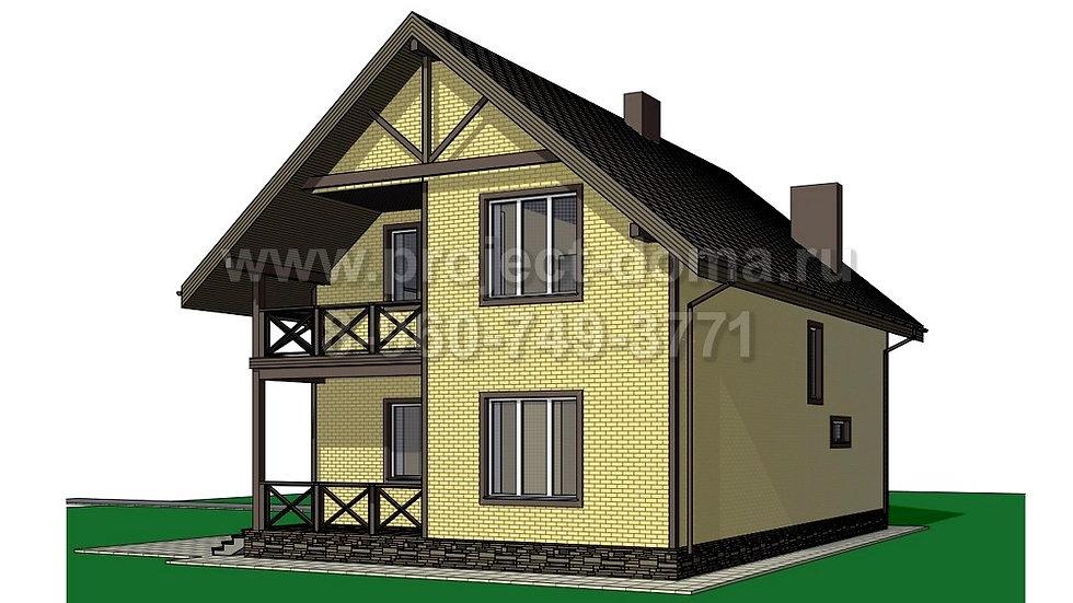 ГП-165 Жилой дом из газобетона 165м2