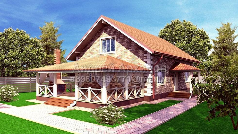 Д-172 Жилой дом с мансардой