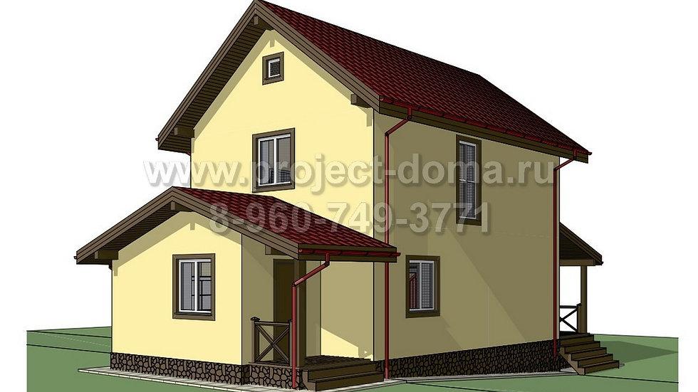 ГП-101 Жилой дом из газобетона 101м2