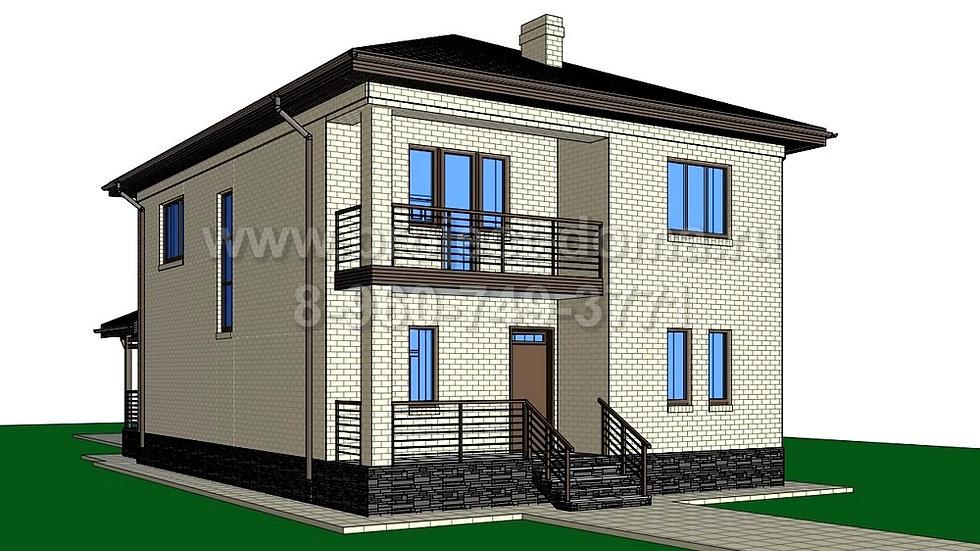 ГП-164 Жилой дом из газобетона 164м2
