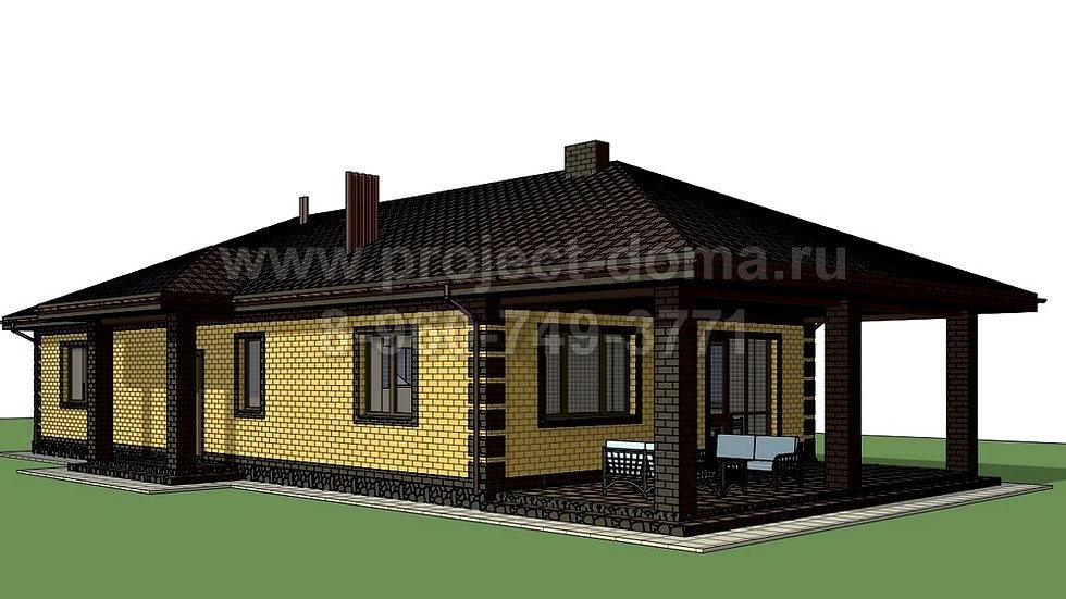 ГП-158 Жилой дом из газобетона 158м2