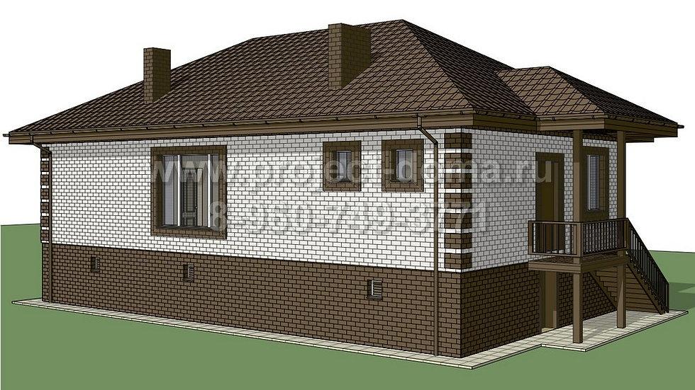 ГП-095 Жилой дом из газобетона 95м2