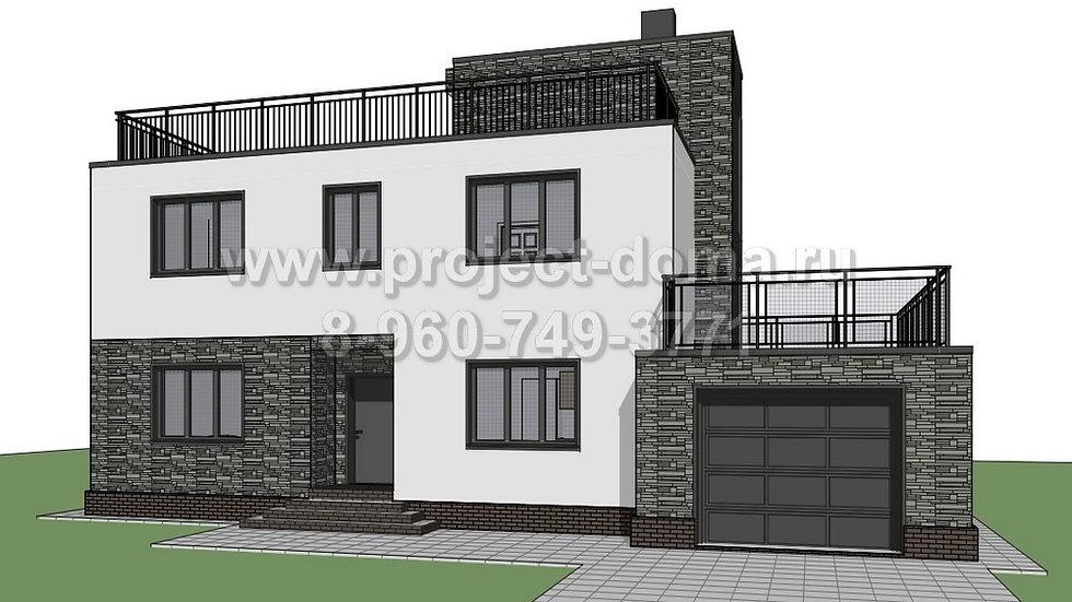 ГП-185 Жилой дом с гаражом 185м2