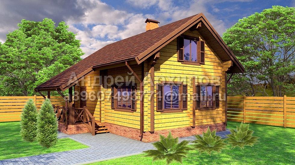 Д-088 Бюджетный деревянный дом
