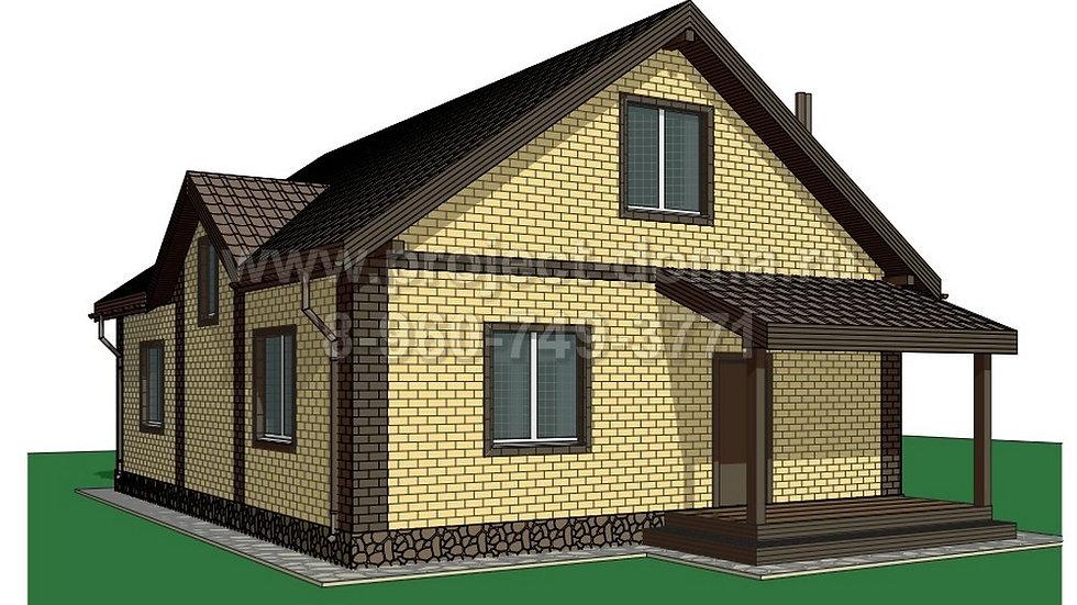 ГП-128 Жилой дом из газобетона 128м2